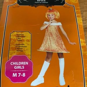 Girls Pumpkin Spice Halloween Costume size 7/8